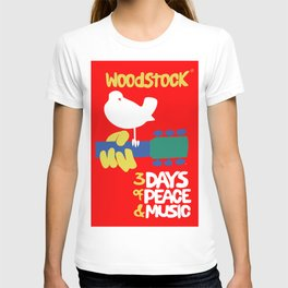 Woodstock 1969 - red background T-shirt
