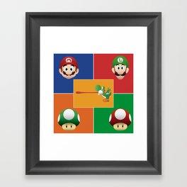 Mario Party Framed Art Print