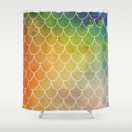 Hippy Mermaid Scales Shower Curtain