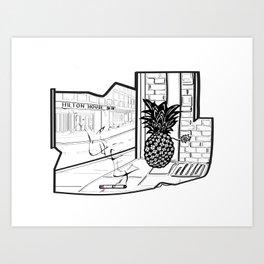 Hilton House Art Print