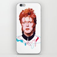 bowie iPhone & iPod Skins featuring Bowie by Anna McKay