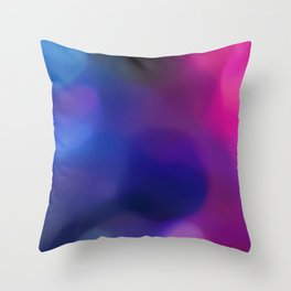 contrast blue and pink colors Throw Pillow