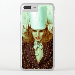 Ghost woman Clear iPhone Case