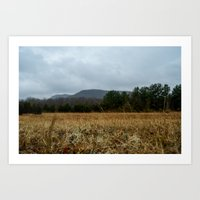 the mountains are calling Art Prints featuring Calling Mountains by Joshua S Carlson