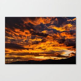 Sunset from Joshua Tree Canvas Print