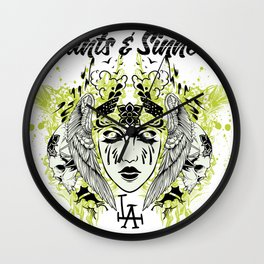 Saints and sinners Wall Clock