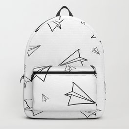 Paper Airplane Pattern | Line Drawing Backpack