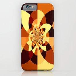 Orange Brown Kaliedoscope iPhone Case