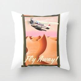 Fly Away! Throw Pillow