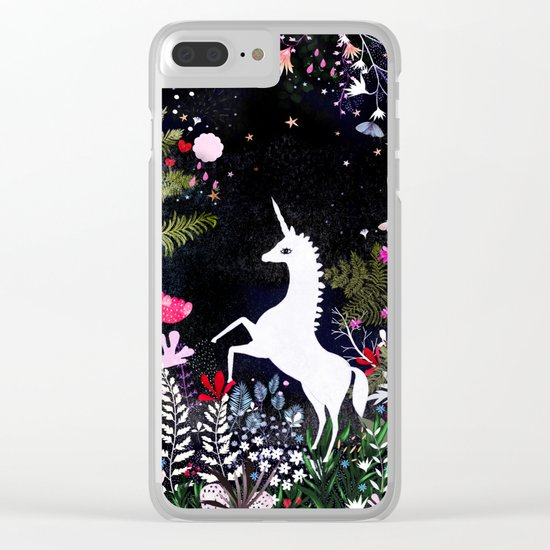 unicorn jar Clear iPhone Case