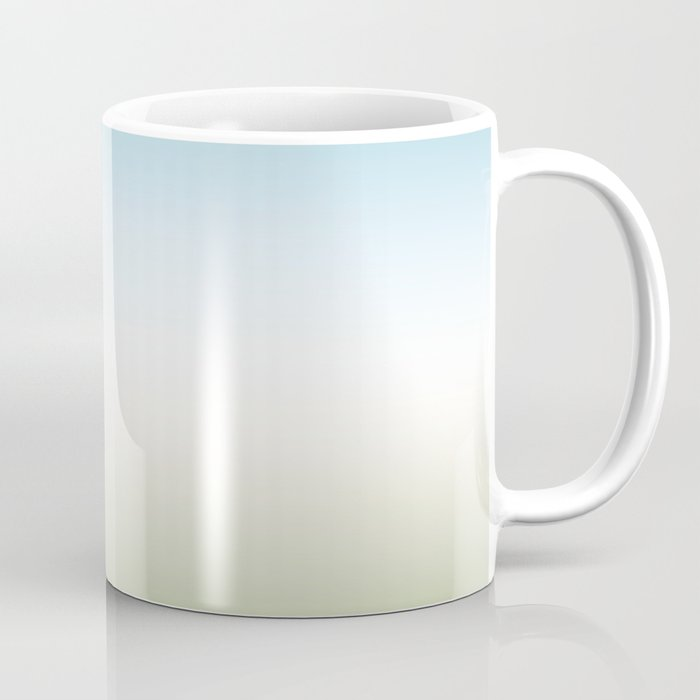 Gradient. Turquoise, white, green. Ombre. Coffee Mug