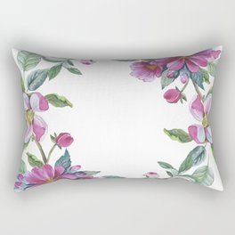 Apple Blossom Wreath 02 Rectangular Pillow