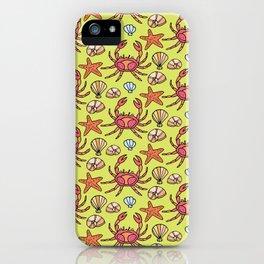 Summer crab iPhone Case