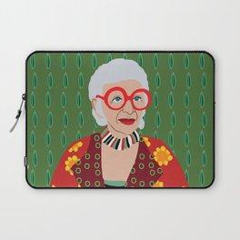 Iris Apfel Laptop Sleeve