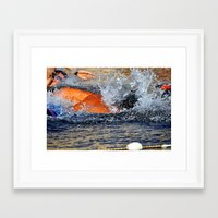 swimming Framed Art Prints featuring swimming by  Agostino Lo Coco