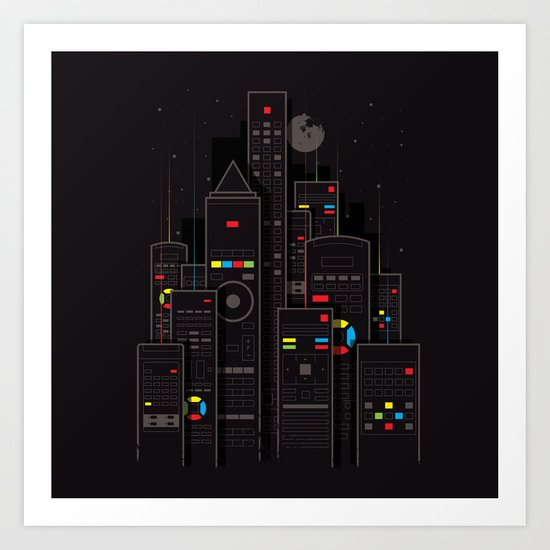 Remote City Art Print