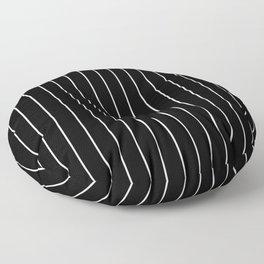 Vertical Stripes in Black/White Floor Pillow