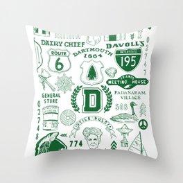 Dartmouth Massachusetts Print Throw Pillow