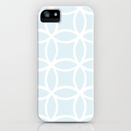 Abstract Circles - Pastel Blue iPhone Case