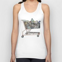 shopping Tank Tops featuring The Shopping by Mitzi Akaha