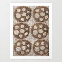 honeycomb Art Prints featuring Honeycomb by Finn Wild