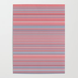 Pink Blue Stripes Poster