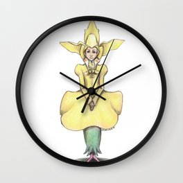 Yellow Orchid 01 Wall Clock
