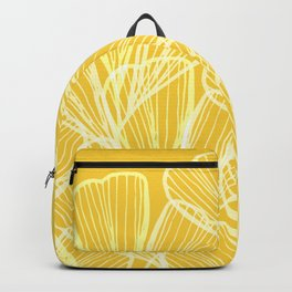 Golden Yellow Flora Backpack