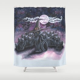 Black Caturday Shower Curtain