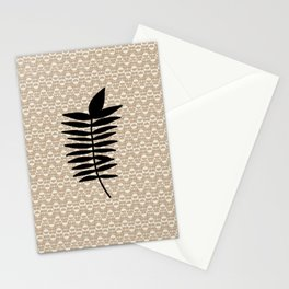 neutral organic patttern Stationery Cards