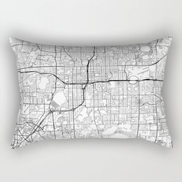 Orlando Map White Rectangular Pillow