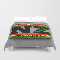 new zealand Duvet Covers featuring New Zealand  by mailboxdisco