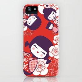 Japanese Doll III iPhone Case