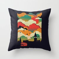 london Throw Pillows featuring London by The Child