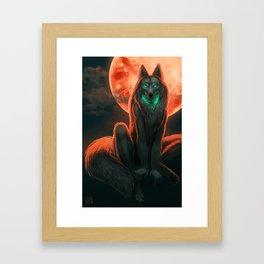 Werewolf (#Drawlloween2016 Series) Framed Art Print