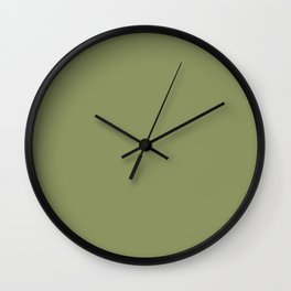 Sage Green Olive Trending Color Basic Simple Wall Clock