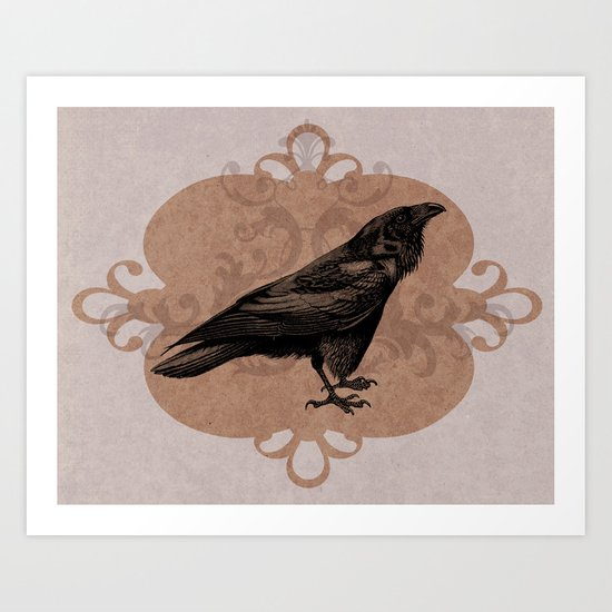 Crow Flourish Art Print