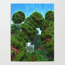 Bacterium Hedgerow Poster