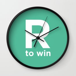 R to win Wall Clock