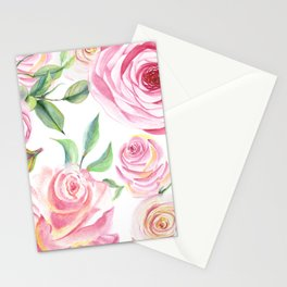 Roses Water Collage Stationery Cards