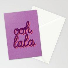 Ooh lala Stationery Cards