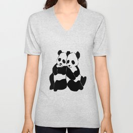 Panda Bears Unisex V-Neck