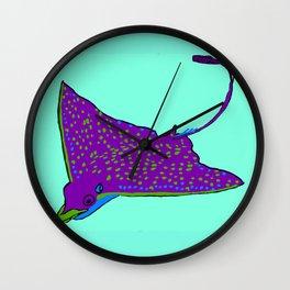The extraordinary eagle-ray Wall Clock
