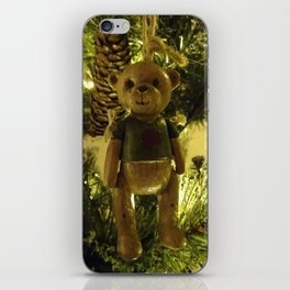 Teddy and Pinecones iPhone Skin