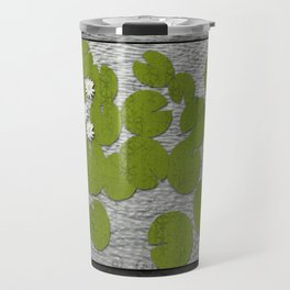 Water lilies with Florida Soft-shell Turtle Travel Mug