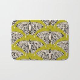 swallowtail butterfly citron basalt Bath Mat