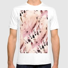 Play The Hand White MEDIUM Mens Fitted Tee