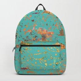 Aqua Bohemian Textile Art Backpack
