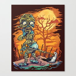 Mummy At The Beach Canvas Print