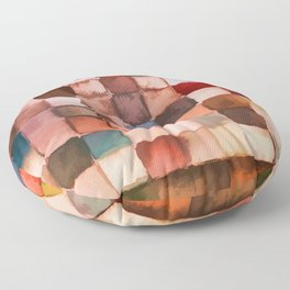 Colorful gift - Geometric watercolor Floor Pillow